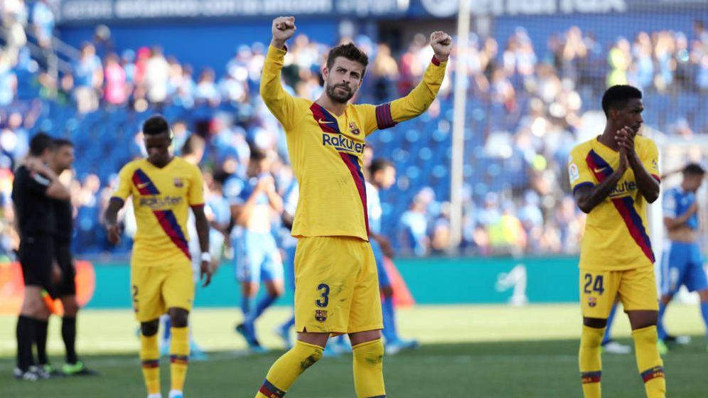 Foto: Gerard Piqué, al final del partido que el Barcelona ganó en Getafe (Foto: Reuters)