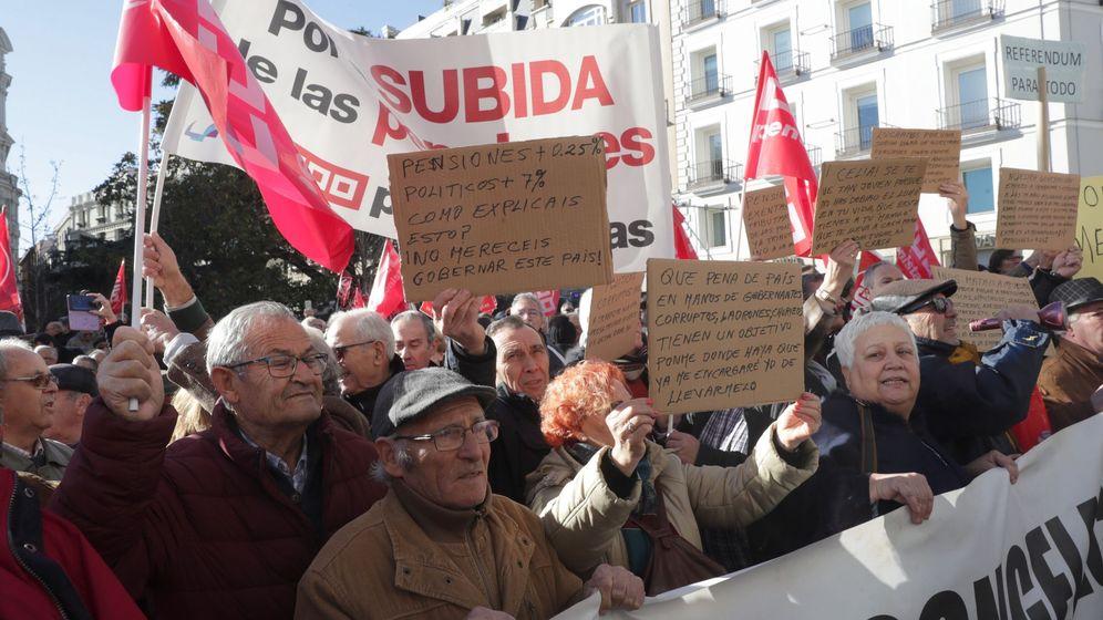 Foto: Manifestación de pensionistas. (EFE)