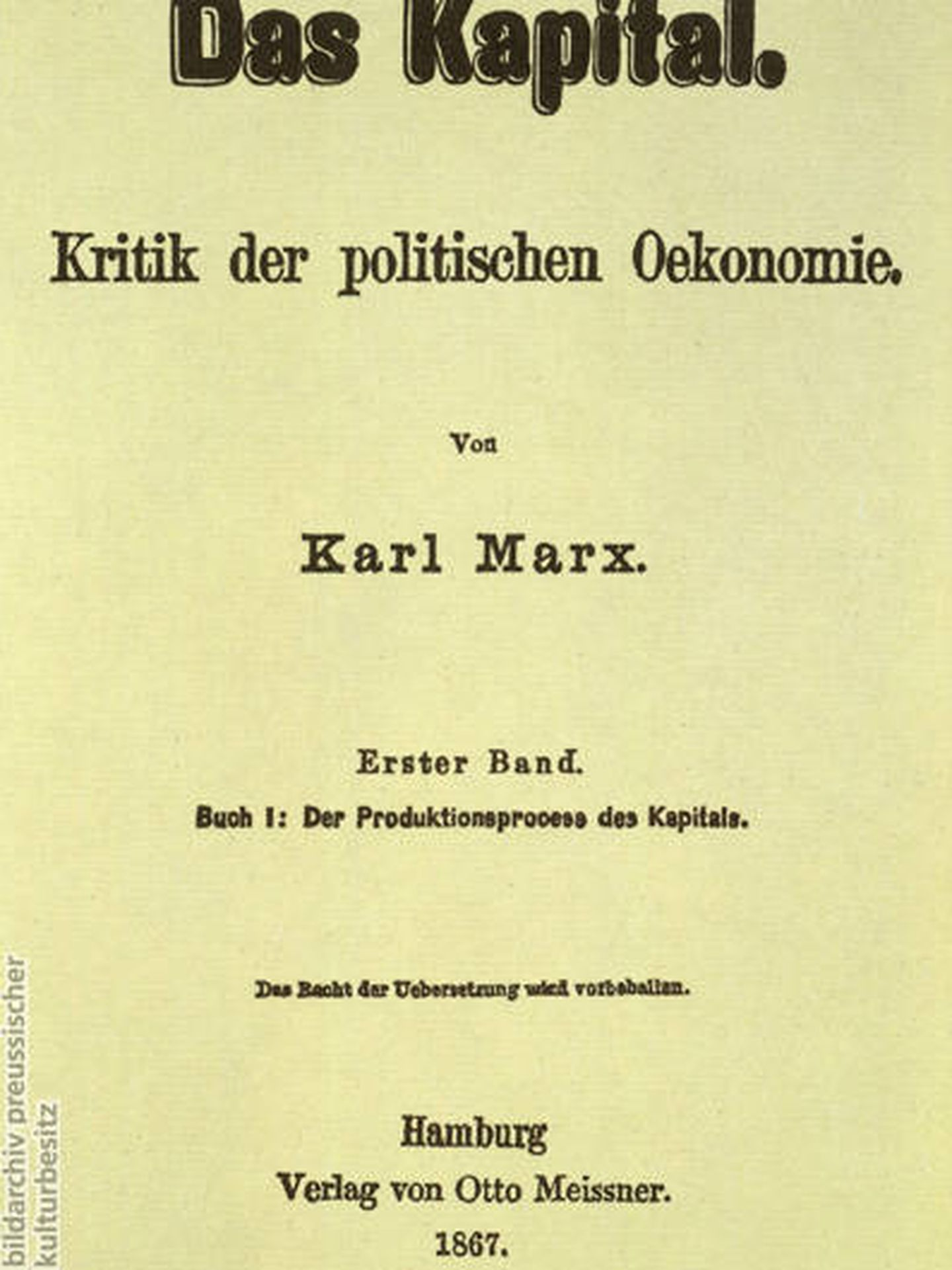 Primera edición de 'El Capital' (1867)