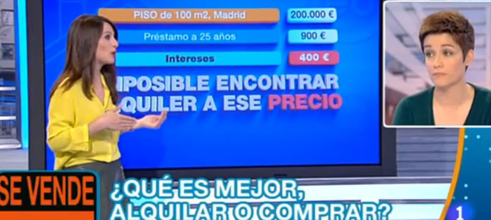 'España Directo' anima a comprar pisos sin valorar sus riesgos