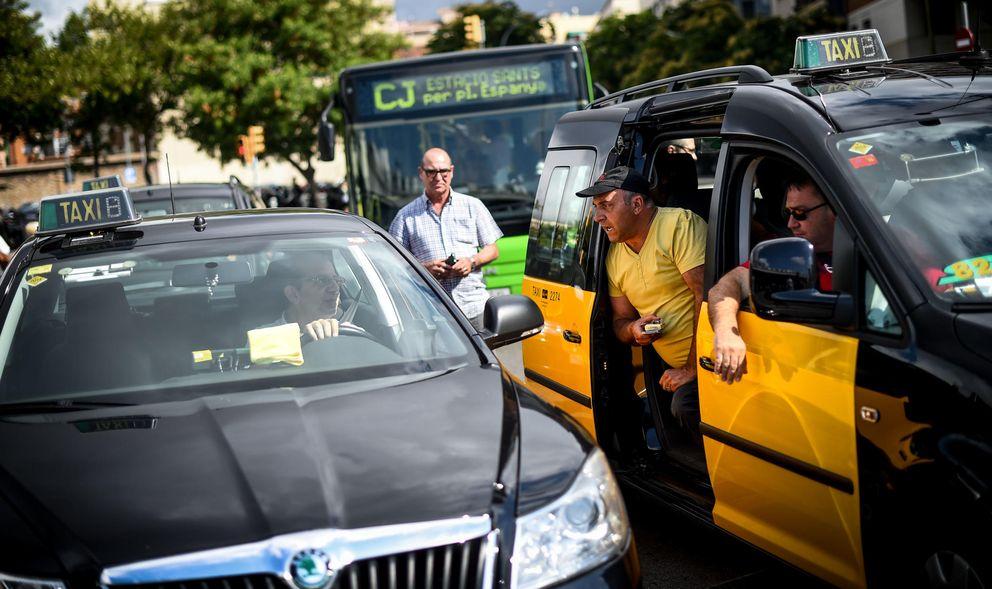 Foto: Los taxistas extienden su guerra contra Uber y boicotean la 'Startup Party' de Barcelona