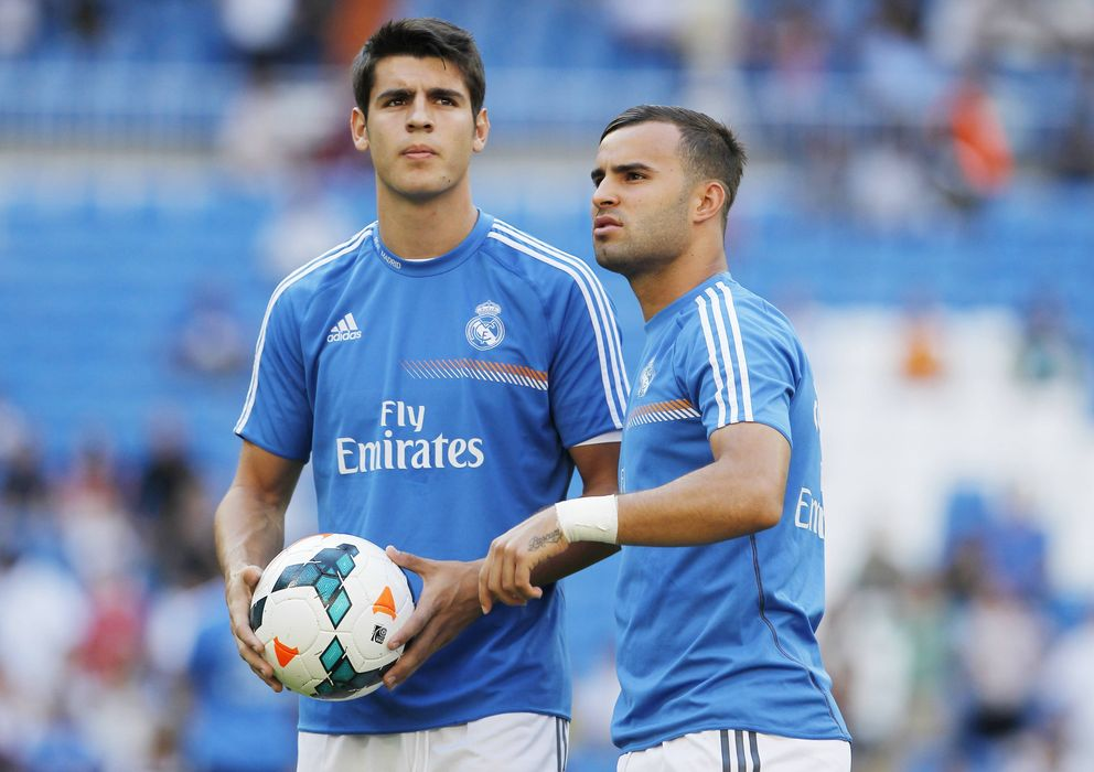 Foto: Álvaro Morata y Jesé Rodríguez jugarán de inicio en el partido de Copa del Rey ante el Olímpic de Xàtiva.