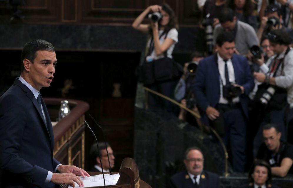 Foto: El presidente del Gobierno en funciones, Pedro Sánchez, en el Congreso, este 25 de julio. (Reuters)