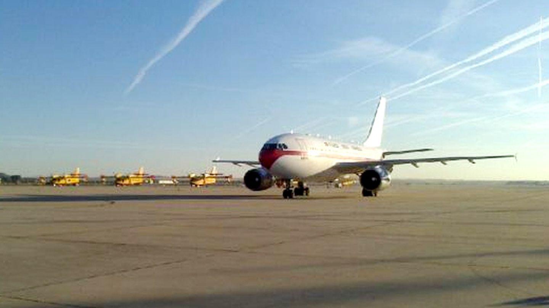 El avión del Ejército raterriza en Torrejón (Twitter: Ministerio de Defensa)