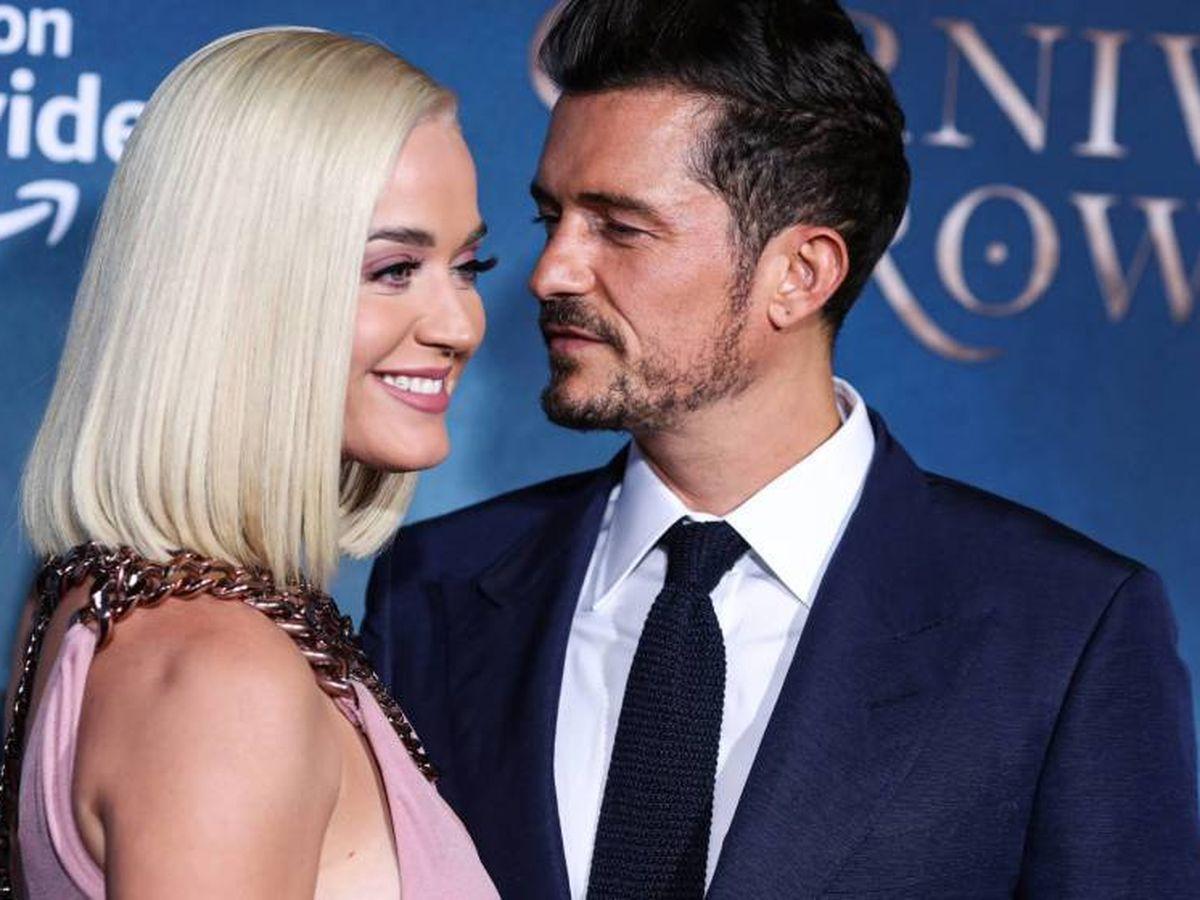 Foto:  Katy y Orlando, felices. (CP)