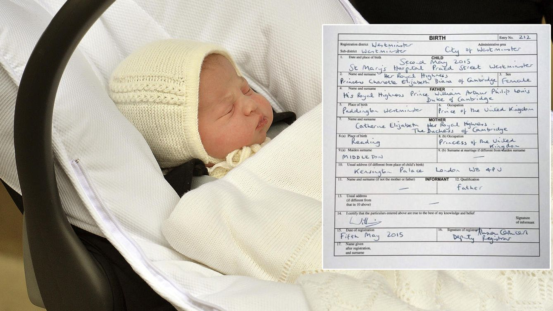 La partida de nacimiento de la princesa Charlotte demuestra que sí ...