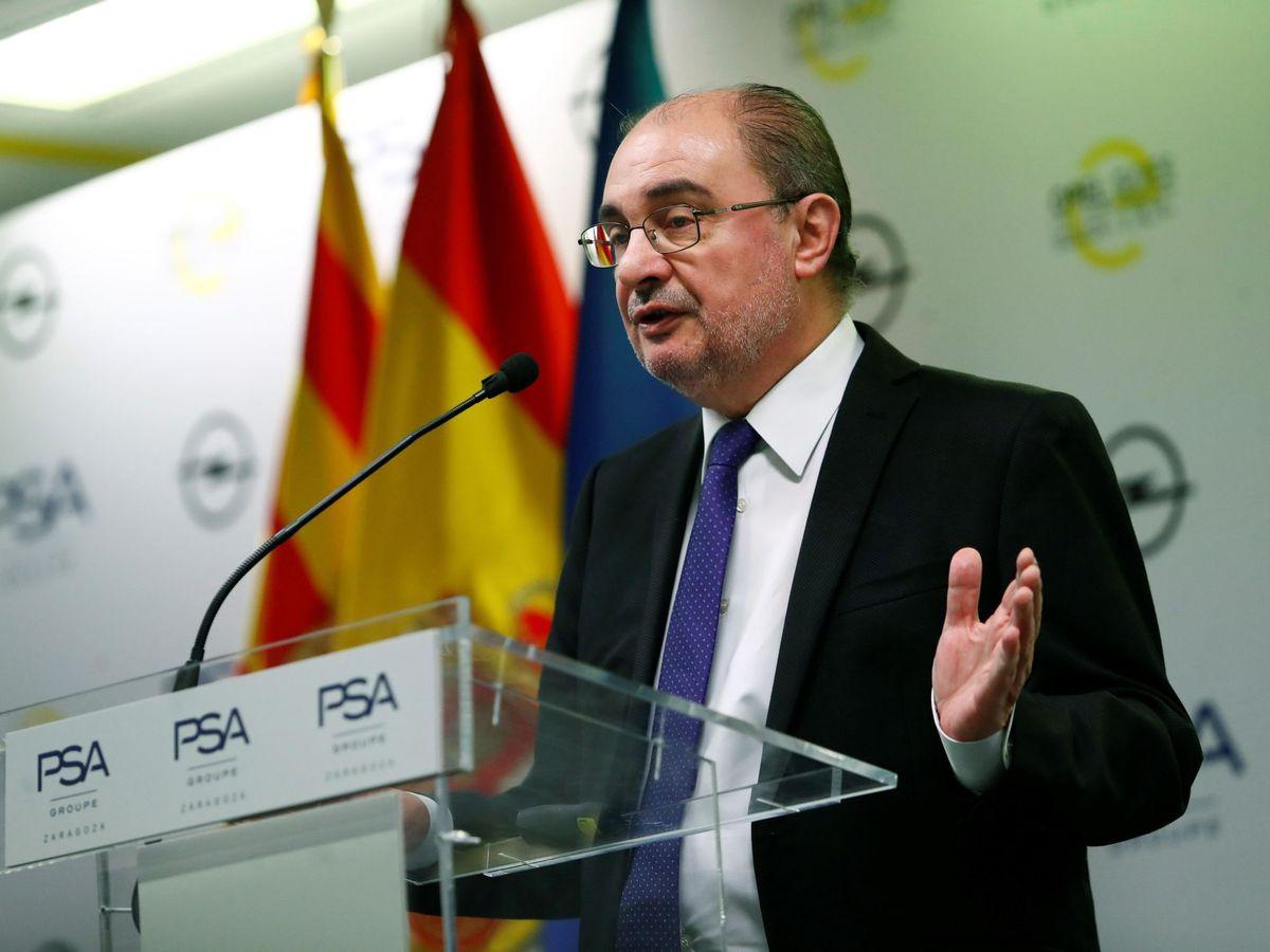 Foto: El presidente de Aragón, Javier Lambán. (Toni Galán/EFE)