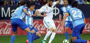 Post de El colmo de Benzema: Casemiro le iguala a goles (cinco) en Málaga
