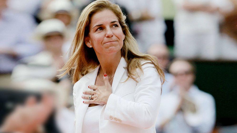 Foto: Arantxa Sánchez Vicario en una imagen de archivo.(Getty)