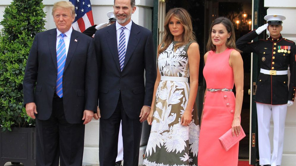 Foto: Los Reyes con los Trump. (EFE)