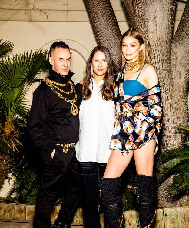 Foto: Jeremy Scott, Ann-Sofie Johansson y Gigi Hadid. (Rony Alwin)