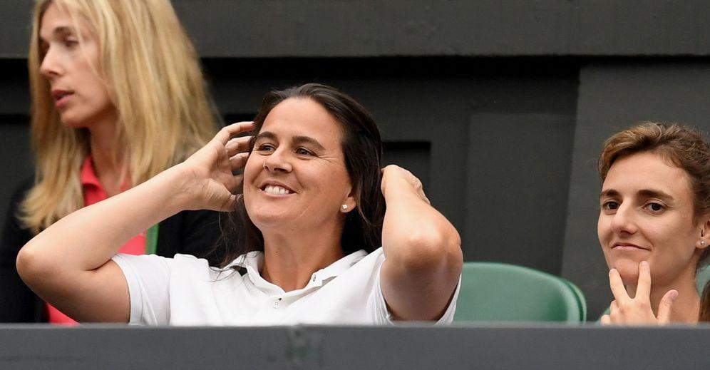 Foto: Conchita Martínez (c) ha sido una figura fundamental para entender el éxito firmado por Garbiñe. (EFE)
