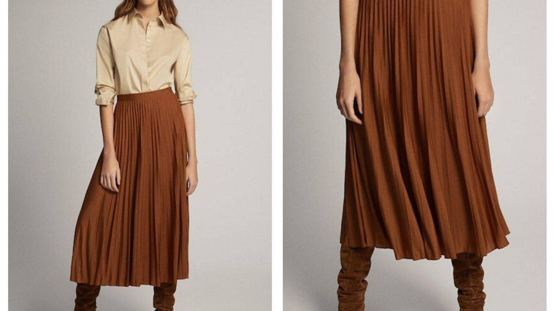 Otra falda plisada de Massimo Dutti (Cortesía)