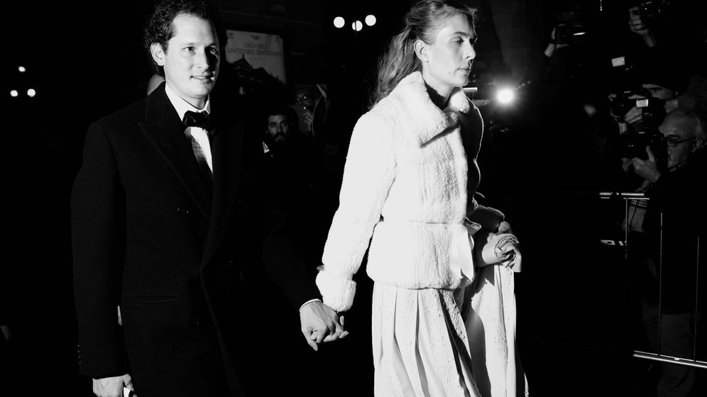 Foto:  John Elkann y su mujer, Lavinia Borromeo. (Getty)