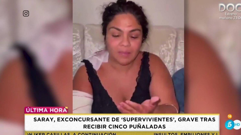 Saray Montoya, en 'Socialité'. (Telecinco).