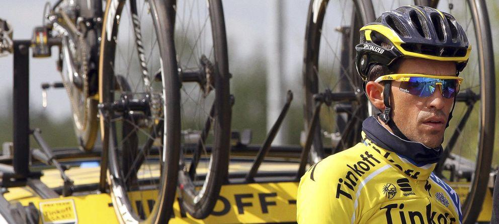 Foto: Alberto Contador puso en serios apuros a Chris Froome.