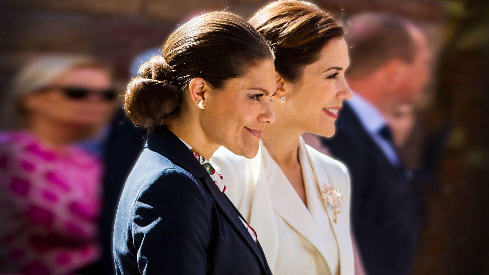 Foto: Victoria y Mary de Dinamarca. (Getty)
