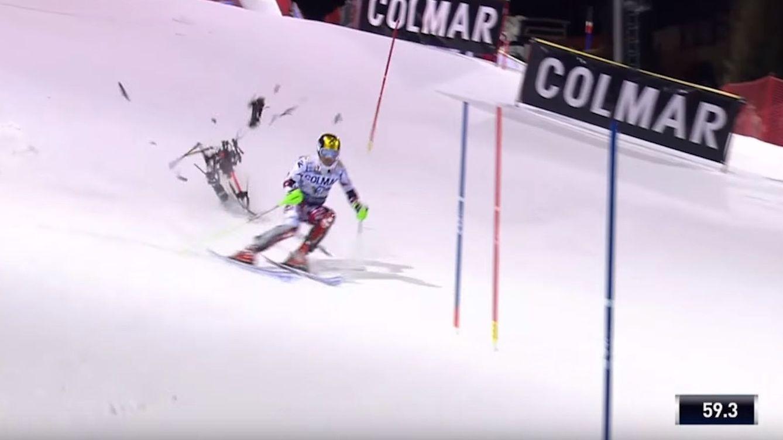 Prohibidos los drones en el esquí tras el grave accidente que pudo sufrir el campeón