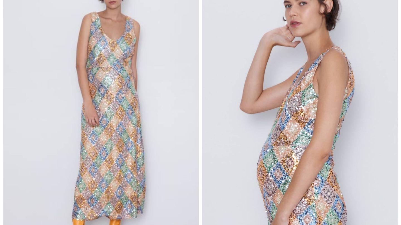 Vestido Zara. (Cortesía)