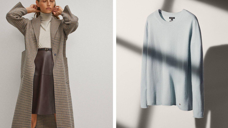 El abrigo y el jersey de Massimo Dutti que ha lucido este martes Kate Middleton. (Cortesía)