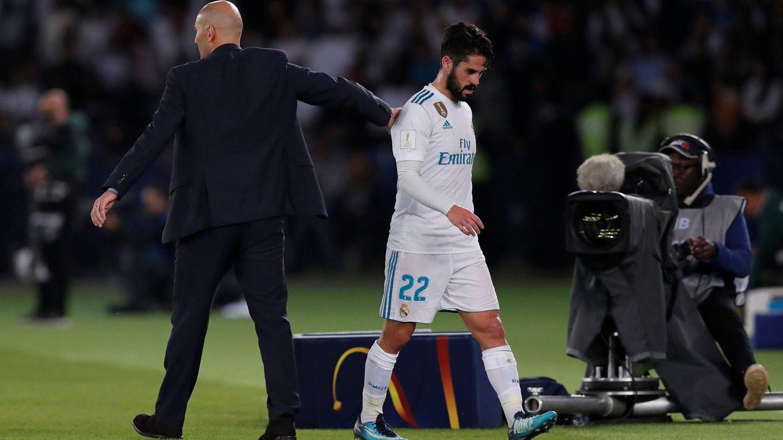 Zidane e Isco, durante el Mundial de clubes. (Reuters)