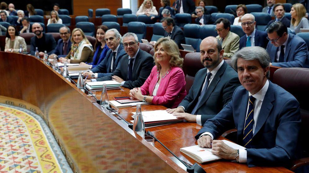 Foto: Imagen del primer pleno con Ángel garrido como presidente de la Comunidad de Madrid (EFE)