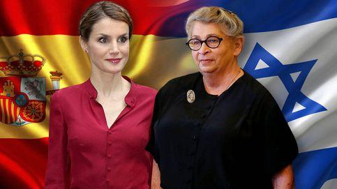 Letizia recibe a Nechama Rivlin, la mujer a la que Melania Trump tendió la mano