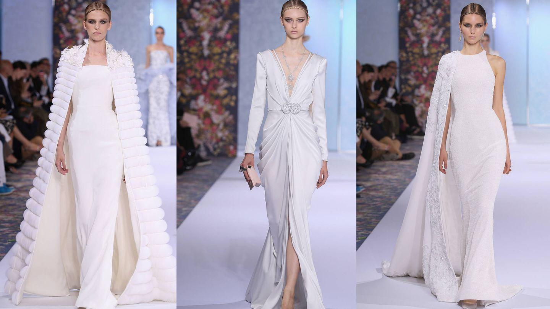 Tres diseños de novia de Ralph and Russo. (Getty Images)