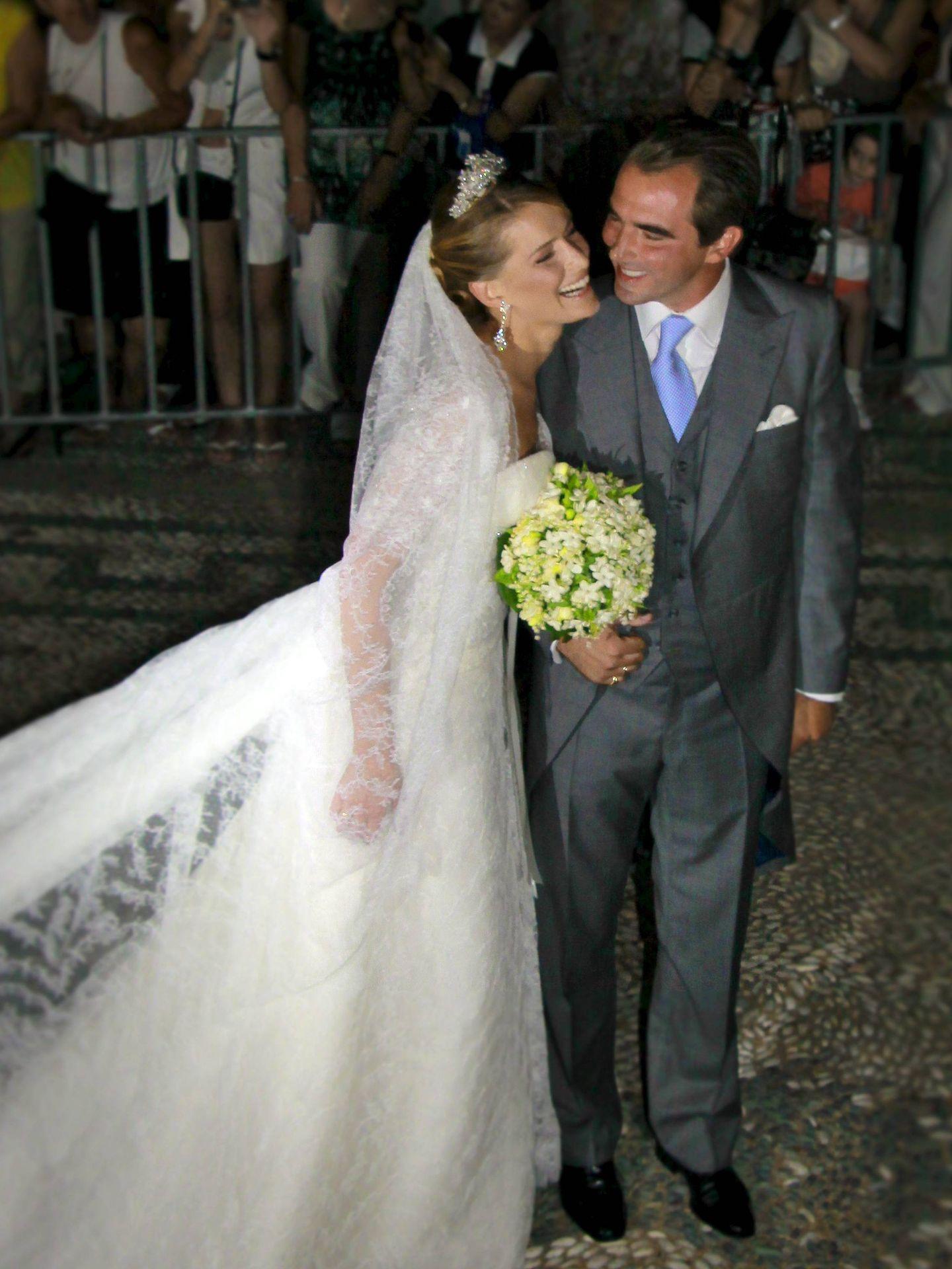 El príncipe Nicolás de Grecia y Tatiana Blatnik. (EFE)