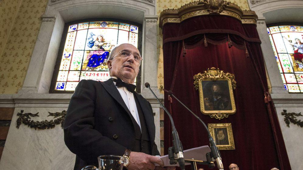 Foto: Santiago Muñoz Machado en la RAE. (EFE)