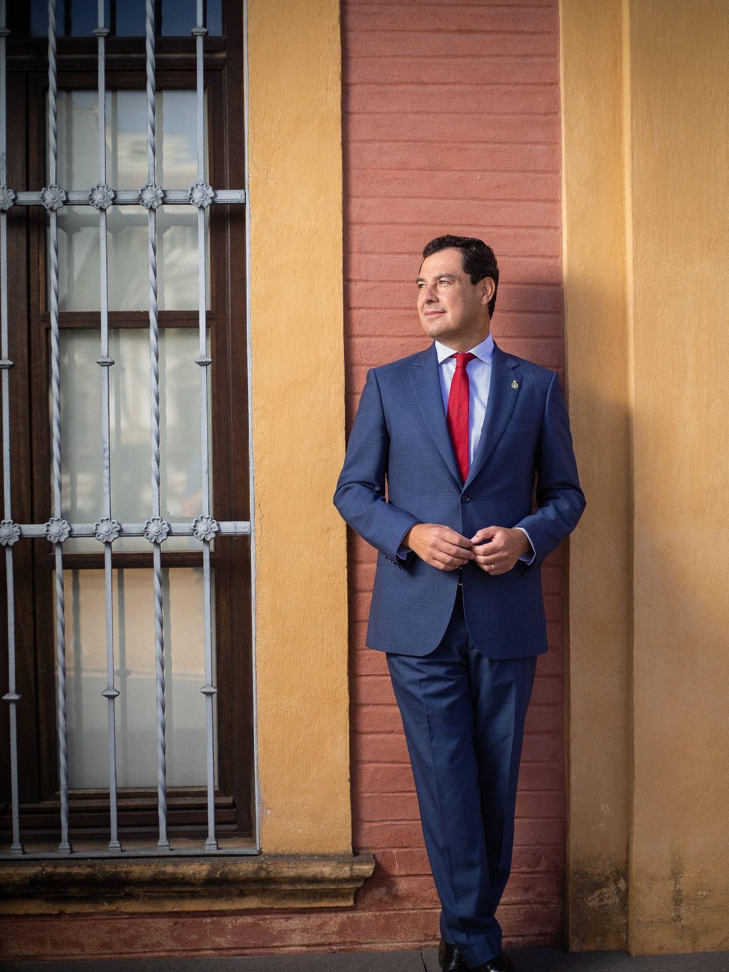 El presidente de la Junta de Andalucía, Juan Manuel Moreno Bonilla. (Fotos: Fernando Ruso)