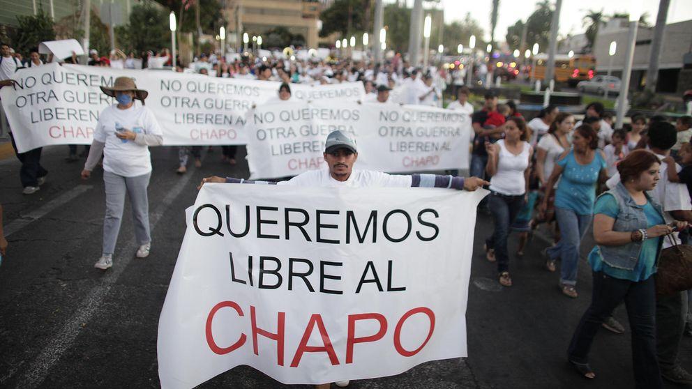 Marchas en Sinaloa para dar la bienvenida a 'El Chapo' tras su fuga