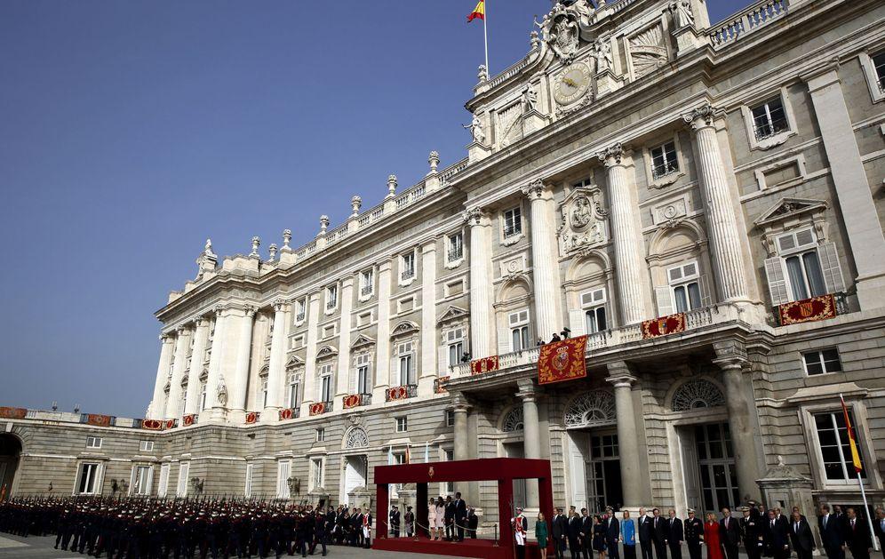 Foto: Vista general del Palacio Real, durante la solemne ceremonia de bienvenida ofrecida al presidente argentino Macri en febrero. (EFE)