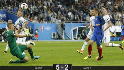 Francia golea a Islandia y acaba con la epopeya vikinga en la Eurocopa