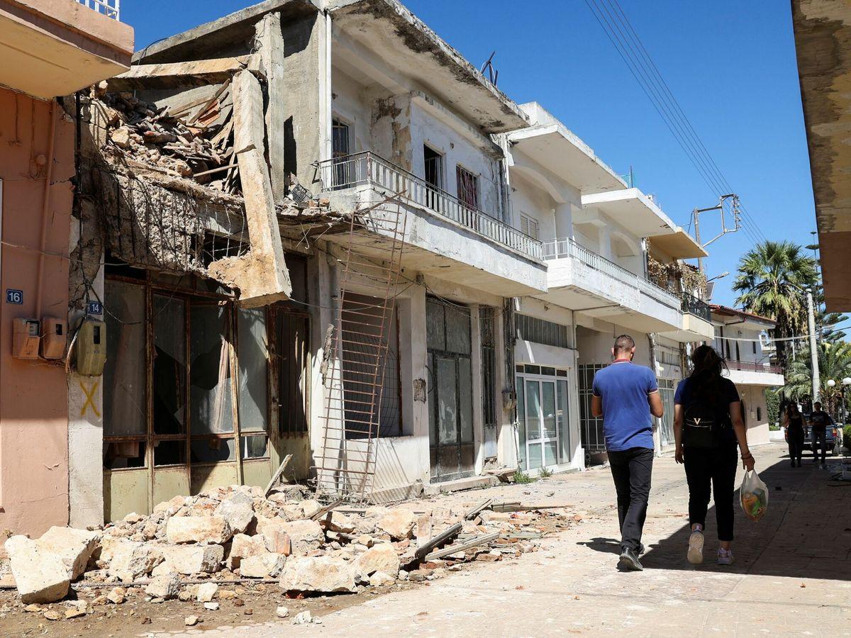 Foto: Daños tras el terremoto en Creta. (Reuters)
