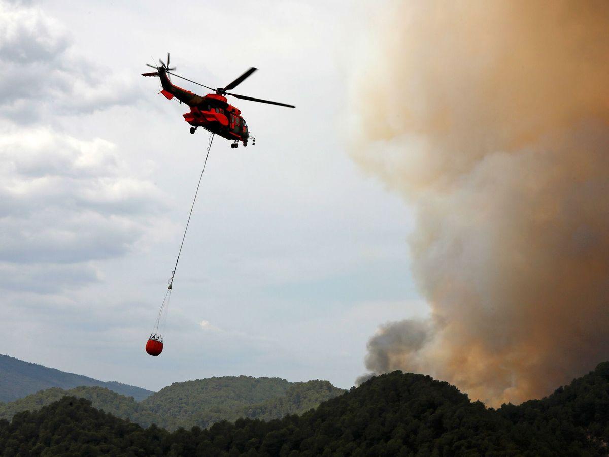 Foto: Incendio forestal Tarragona. (EFE)