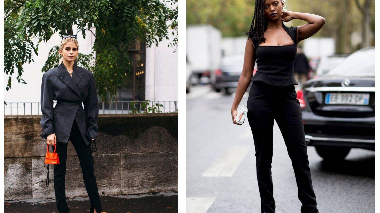 En negro es el favorito del street style.  (Imaxtree)