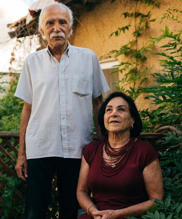 Foto: Lea Tsmel junto a su marido. (Cedida)