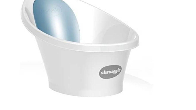 Bañera para bebé con respaldo de espuma Shnuggle