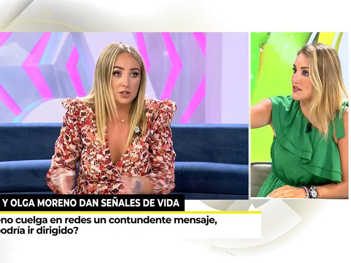 Foto: Alba Carrillo, en 'Ya es mediodía'. (Mediaset)