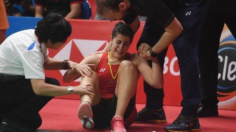 Carolina Marín, durante la final de Indonesia (Reuters)