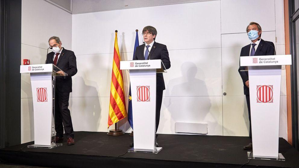 Torra, Puigdemont y Mas denuncian la arbitrariedad de la justicia de España