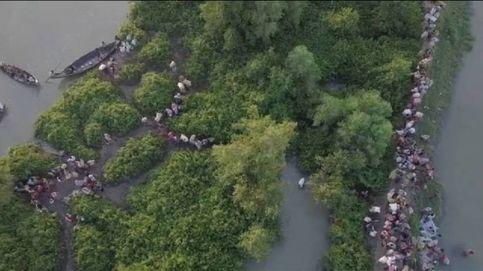 El éxodo forzoso de los rohingyas de Myanmar, a vista de dron