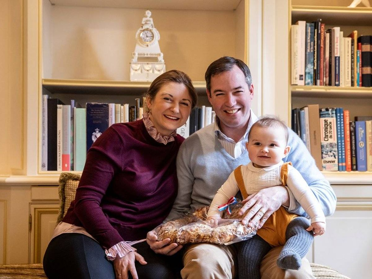 Foto: Stéphanie de Luxemburgo, con su marido e hijo. (©MGD/S.Margue)