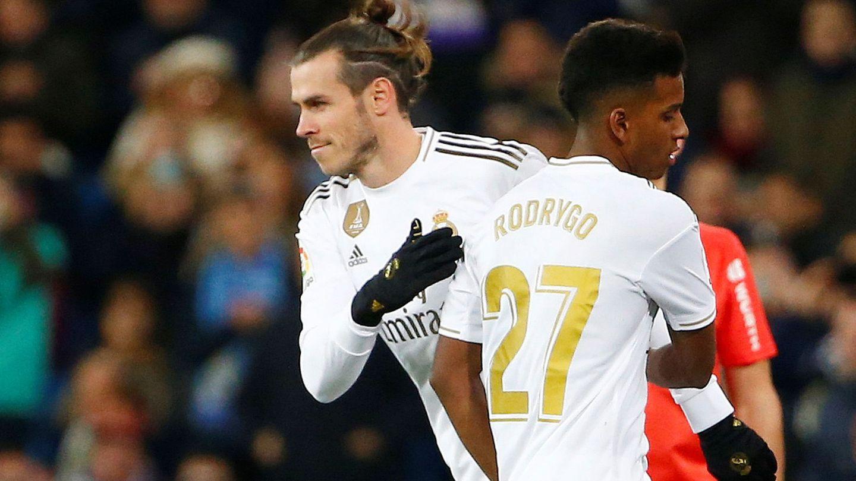 Bale sale por Rodrygo en el partido contra la Real Sociedad. (Efe)