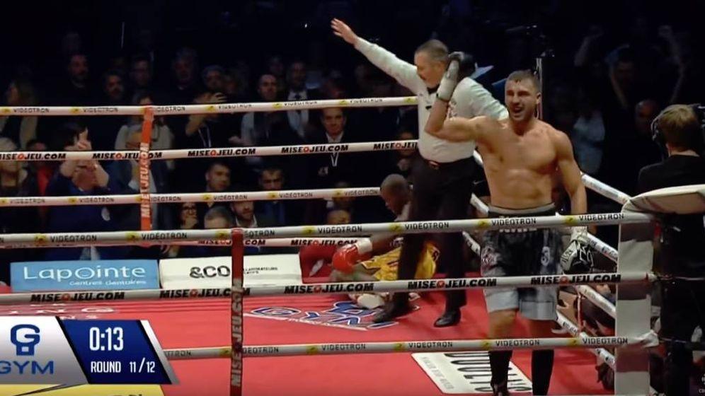 Foto: Gvozdyk tras el KO a Stevenson.