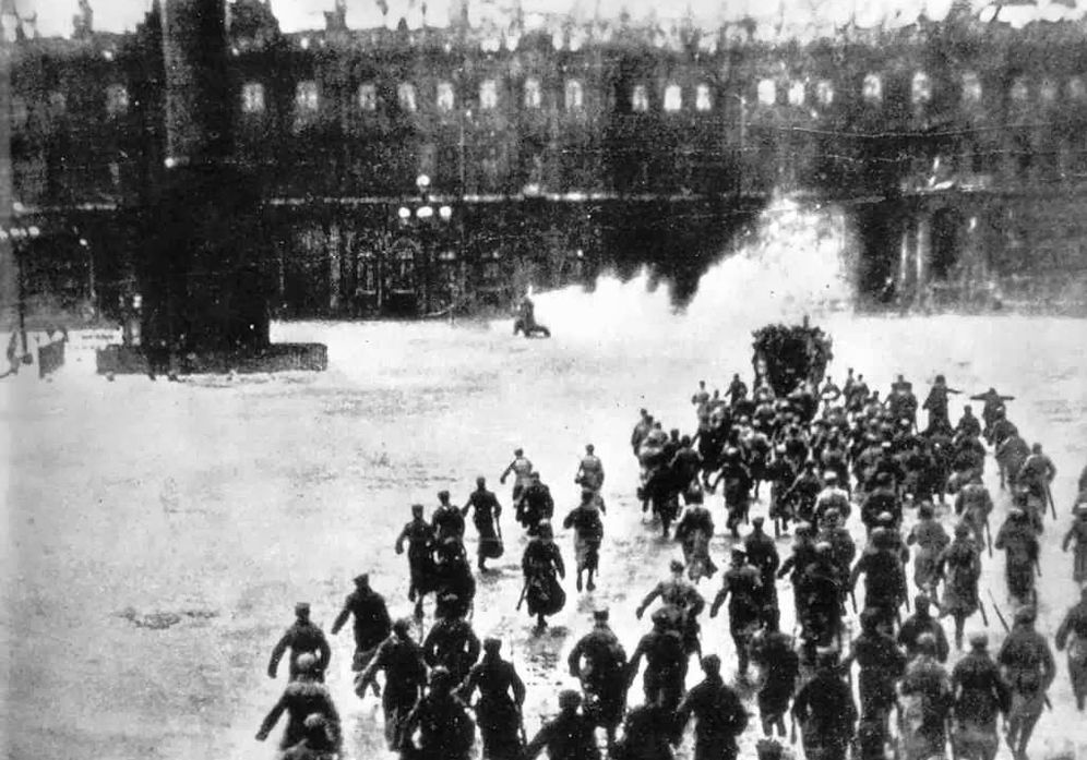 Foto: Asalto al Palacio de Invierno el 7 de noviembre de 1917