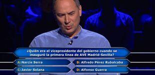 Post de La pregunta que eliminó a Erundino de '¿Quién quiere ser millonario?'