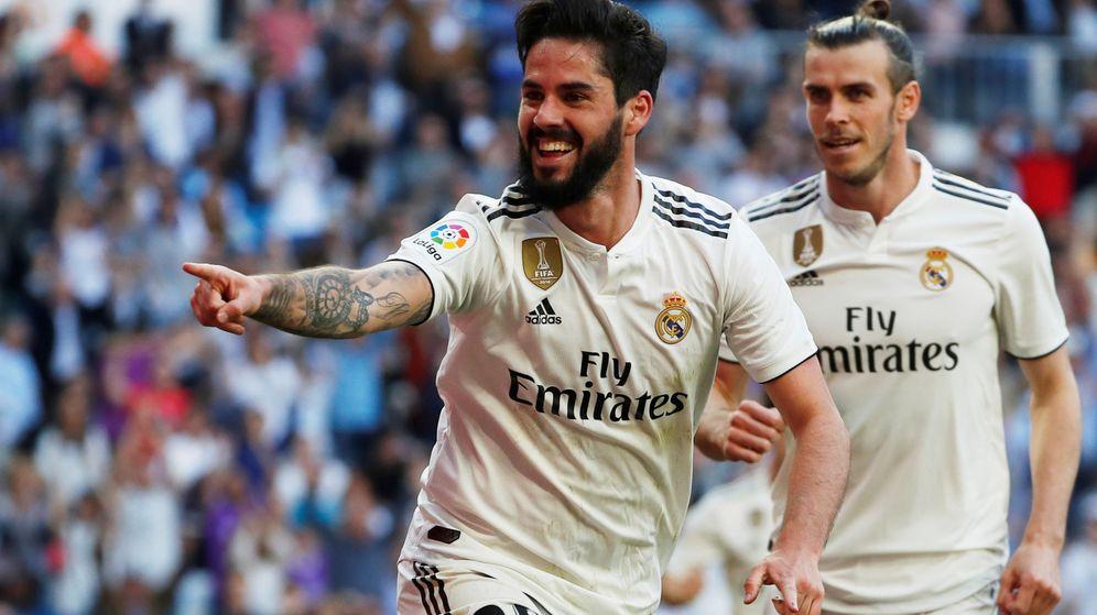 Foto: Isco celebra un gol con el Real Madrid en el estadio Santiago Bernabéu. (Efe)