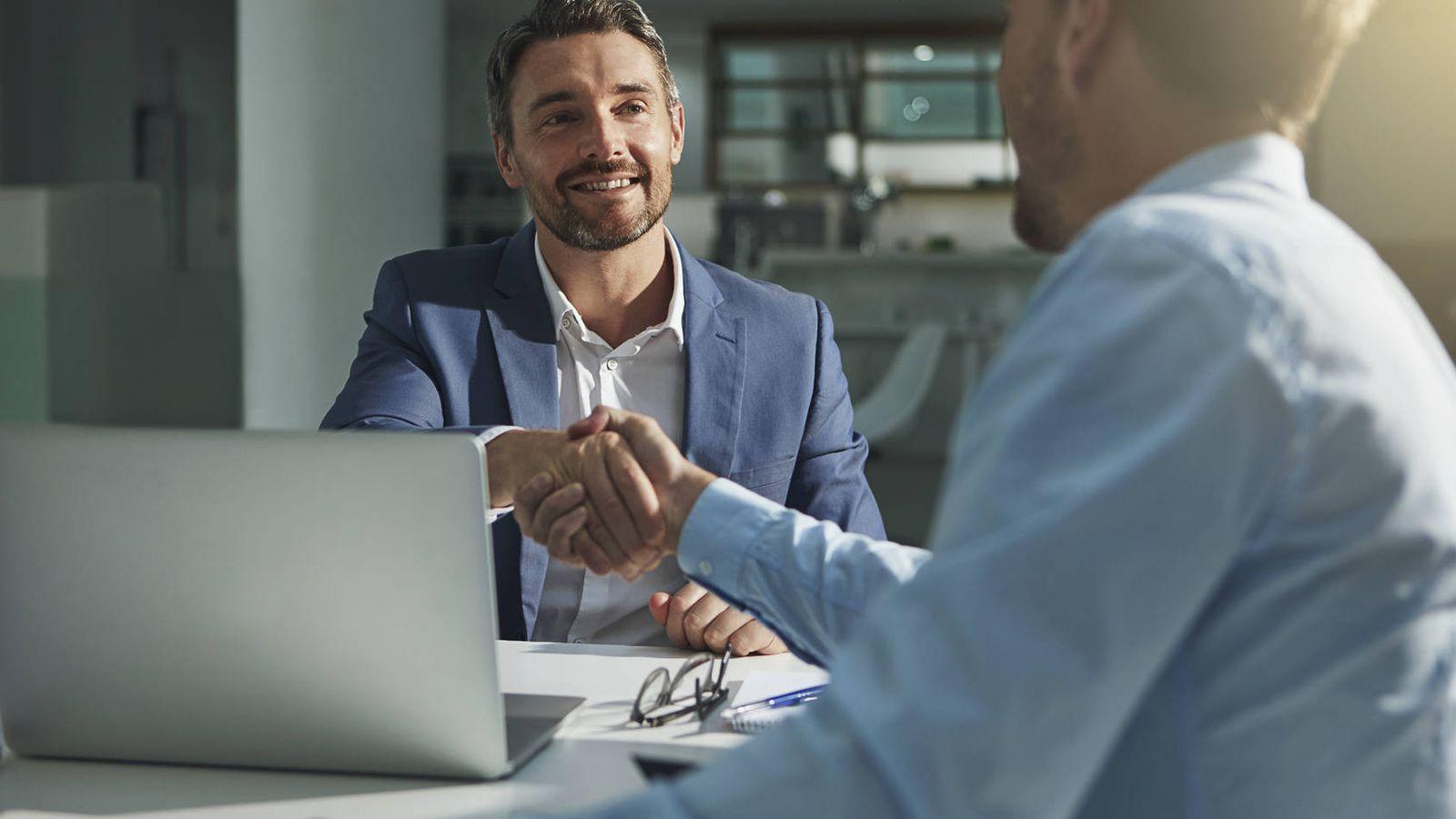 Foto: Una entrevista de trabajo en una empresa